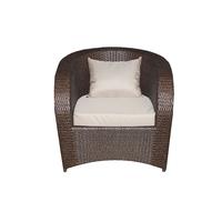 Кресло из искусственного ротанга Римини: шоколад под дерево