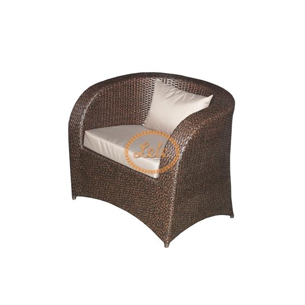 Кресло из искусственного ротанга Римини под\дерево,шоколад
