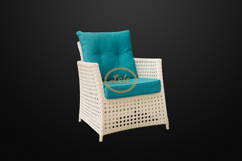 Комплект для отдыха из искусственного ротанга Амелия ажурное плетение  цвет белый