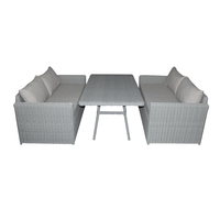 Комплект столовый из искусственного полукруга Капучино
