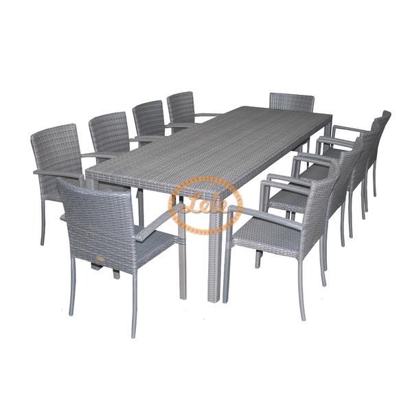 Комплект столовый из искусственного ротанга на 10 персон