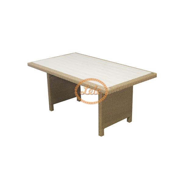 Стол из искусственного ротанга Фрателли  ротанга с террасной доской Д170 Ш90 В 75
