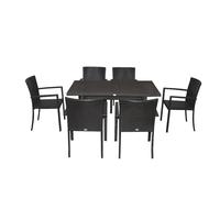 комплект столовый  из искусственного ротанга   на 6 персон
