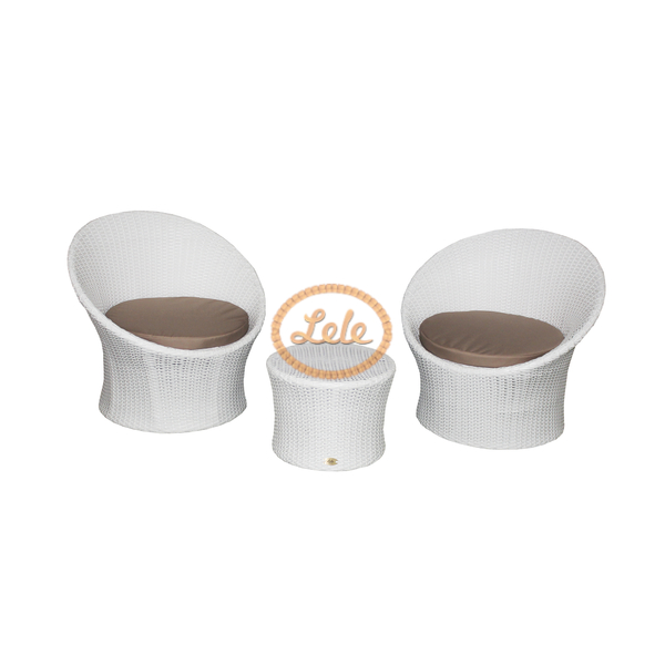 Комплект кофейный из искусственного ротанга Майами черный