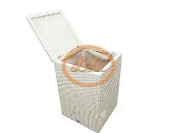 Корзина для белья из искусственного ротанга 45х35х60