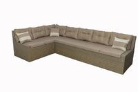 Угловой диван из искусственного ротанга Венеция 200х340х90