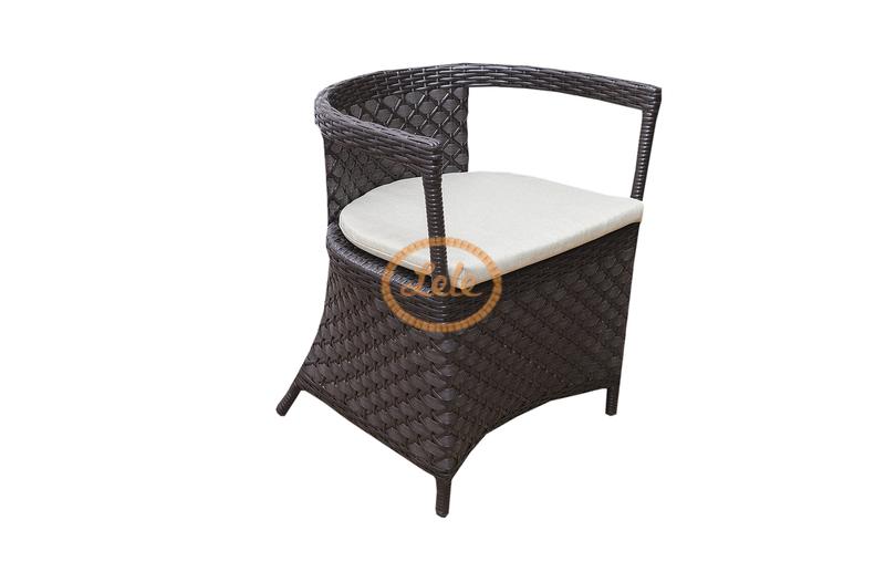 Комплект кофейный из искусственного ротанга  Сицилия цвет венге