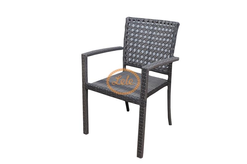 Комплект  кофейный из искусственного ротанга Пеле №2ажурное плетение