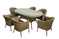 Комплект столовый  из искусственного ротанга Вена на шесть персон