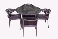 Комплект столовый из искусственного ротанга Мадрид  на 4 персоны ажурное плетение